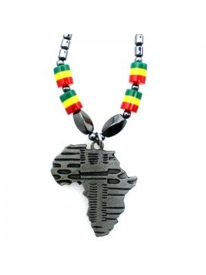 Wholesale Africa Continent Design Necklace - Silver
