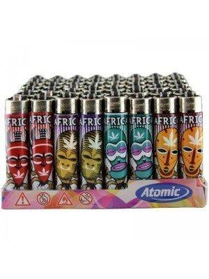 Wholesale Atomic African Leaf Festival Flint Lighter - Assorted