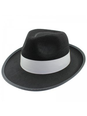 Al Capone Gangster Trilby Party Hat - Black