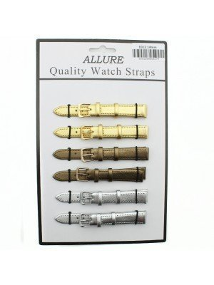 Allure Leather Watch Straps - Assorted Buckles & Colours - 14mm