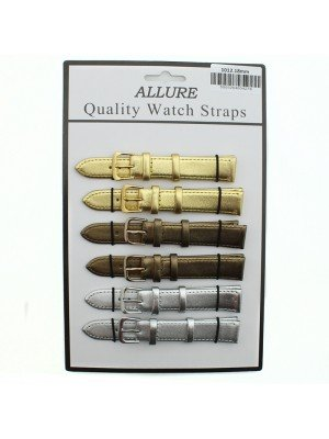 Allure Leather Watch Straps - Assorted Buckles & Colours - 18mm