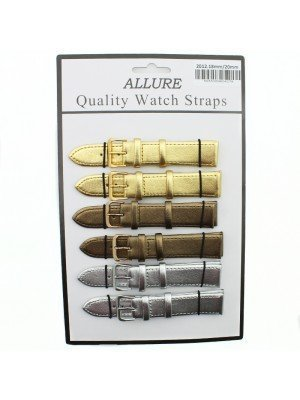 Allure Leather Watch Straps - Assorted Buckles & Colours - 20mm