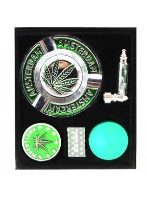 Wholesale Amsterdam Grinder Gift Set - Green