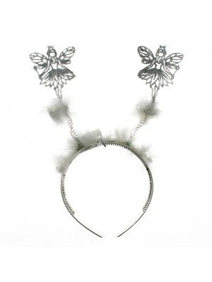 Angel Design Deely Bopper With Fur - Silver