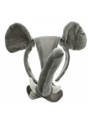 Animal Headband with Ears - Elephant Design
