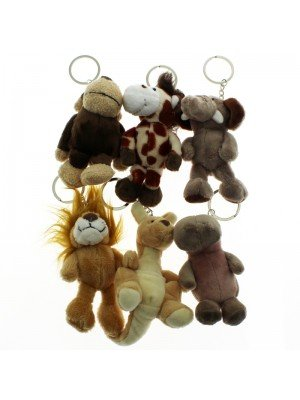 Animal Key Rings - Assorted Colours