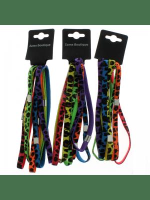 Animal Print Elastic Headband - Bright Assortment