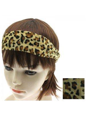 Animal Print Headbands - Leopard Print