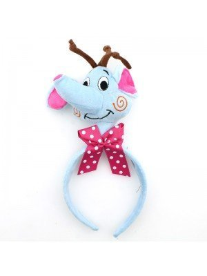 Animal Headband - Elephant Head With Pink Bow
