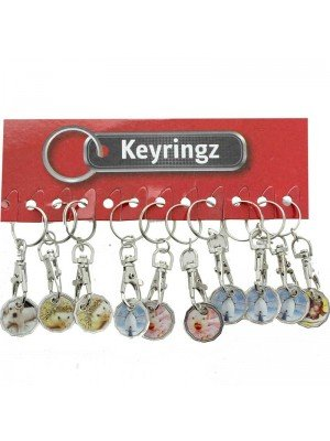Wholesale Trolley Coin Keyrings-Animals(Assorted)