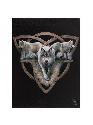 Anne Stokes Small Trio Wolf Picture Canvas
