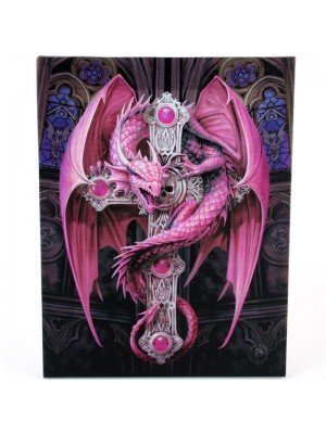 Anne Stokes Wall Canvas - Gothic Guardian