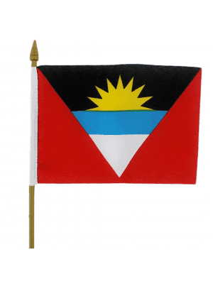 "Antigua & Barbuda Hand Flag - 6"" x 4"""