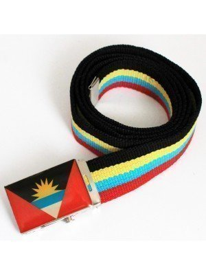 Men's Canvas Belt - Antigua & Barbuda Flag