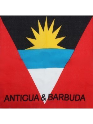 Antigua & Barbuda Flag Print Bandanas (With Writing)