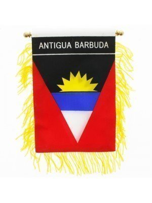 Antigua Barbuda Mini Banner Flag - 10cm x 13cm