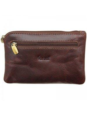 Wholesale Unisex Forum Leather Coin Purse - Brown