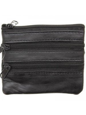 Wholesale Ladies Genuine Leather Coin Purse - Black