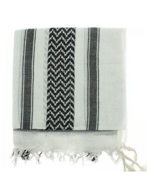 Arab Scarves - White and Black