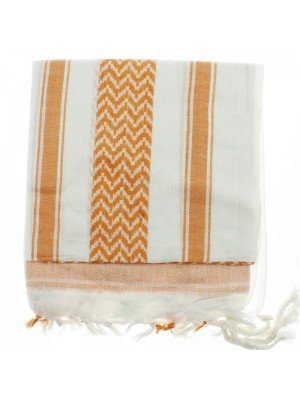 Arab Scarves - White and Orange