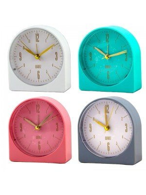 Wholesale Arch Quartz Table Alarm Clock With Light - Assorted Colours