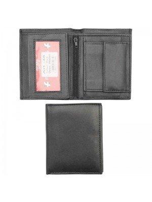 Wholesale Men's Bi-Fold RFID Leather Wallet - Black