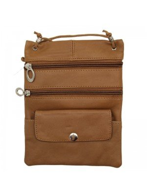 Wholesale Ladies Leather Purse With Leather-Tan