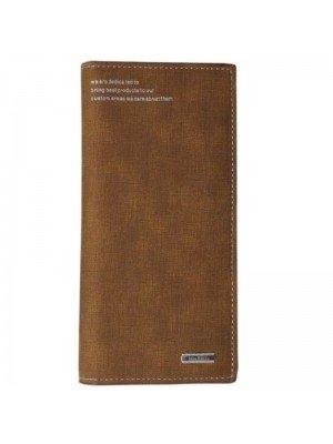 Menbense Ladies Leather Hand Bag-Brown(20cm x 10cm)