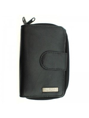 Ladies Genuine Leather Purse - Black