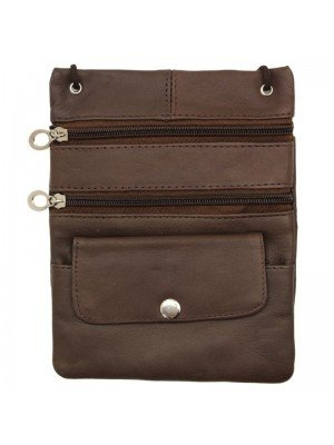 Wholesale Ladies Leather Purse With Leather-Brown