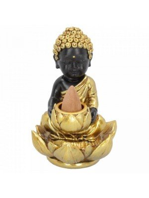 Wholesale Baby Buddha Backflow Incense Burner 10.3cm