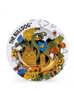 Wholesale The Bulldog Funky Metal Ashtray - 14cm