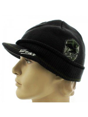 Mens Knitted Free State Peak Hat - Assorted Colours