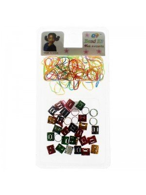 Braiding Beads With Elastics-Assorted Colours