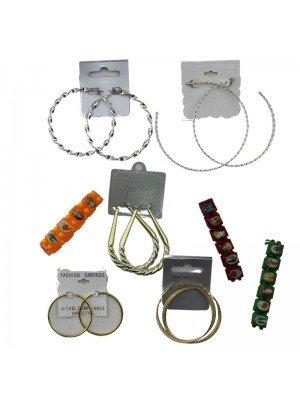 Assorted Jewellery Pack Of Hoops & Bracelets