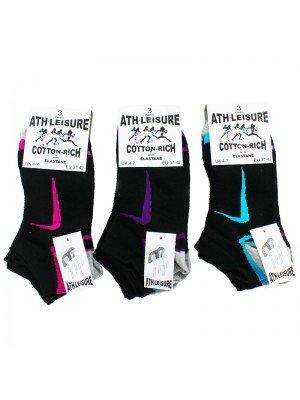 Ath-leisure Cotton Rich Socks - Tick Design (Asst. Colours)