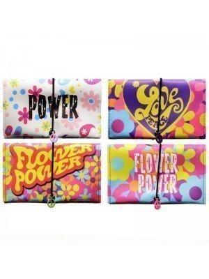 Wholesale Atomic Flower Power Design Pouches - Assorted Colours