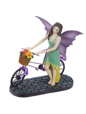 Aurora Knight Fairy with Cycle Figurine - 21cm
