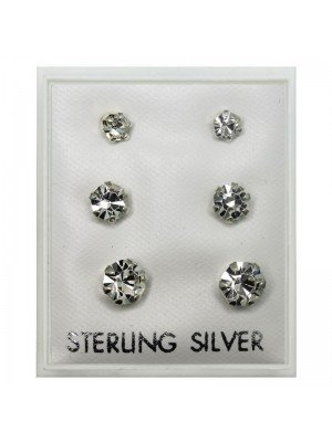 Austrian Crystal Claw Set Studs - Assorted Sizes