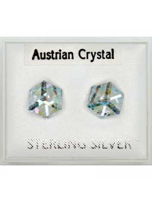 Austrian Crystal Cube Studs (6mm)