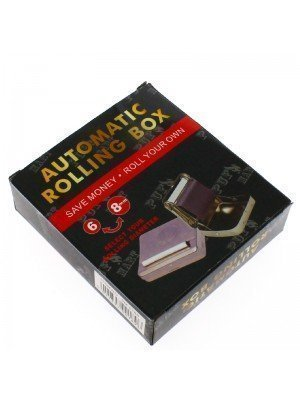 Automatic Metal Tobacco Rolling Box- Silver Assorted