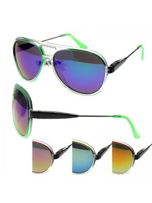 Aviator Sunglasses (Translucent Frame) - Assorted Colours