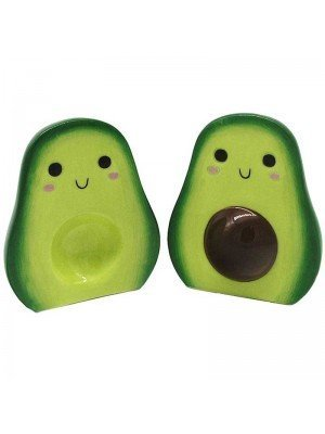 Wholesale Avocado Ceramic Salt and Pepper Set