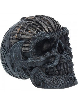 Sword Skull Figurine - 18 cm