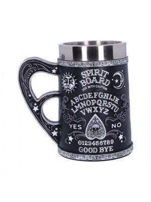 Wholesale Black and White Spirit Board Tankard Mug - 14cm