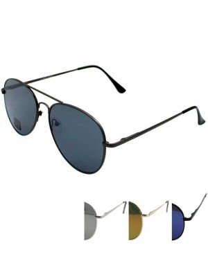 Unisex Aviator Double Bridge Sunglasses - Assorted