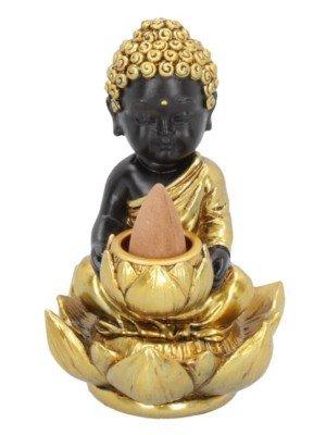 Baby Buddha Backflow Incense Burner - 10.3cm