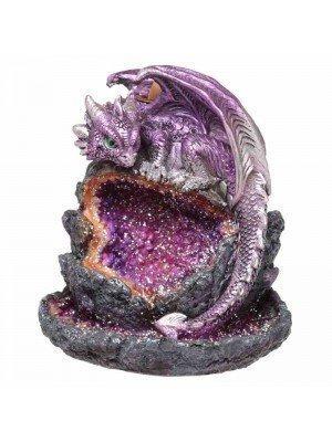 Crystal Cave Baby Dragon LED Backflow Incense Burner