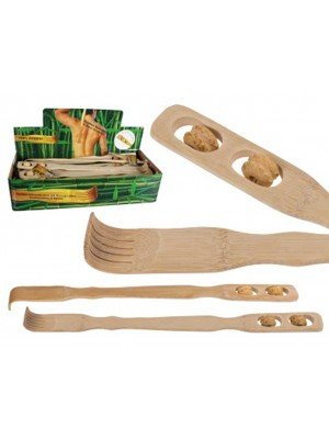 Wholesale Bamboo Back Scratcher With Massage Rolls
