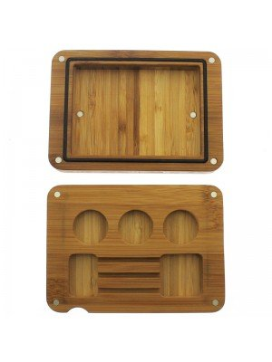 Bamboo Flip Magnetic Rolling Tray 16x11.5cm